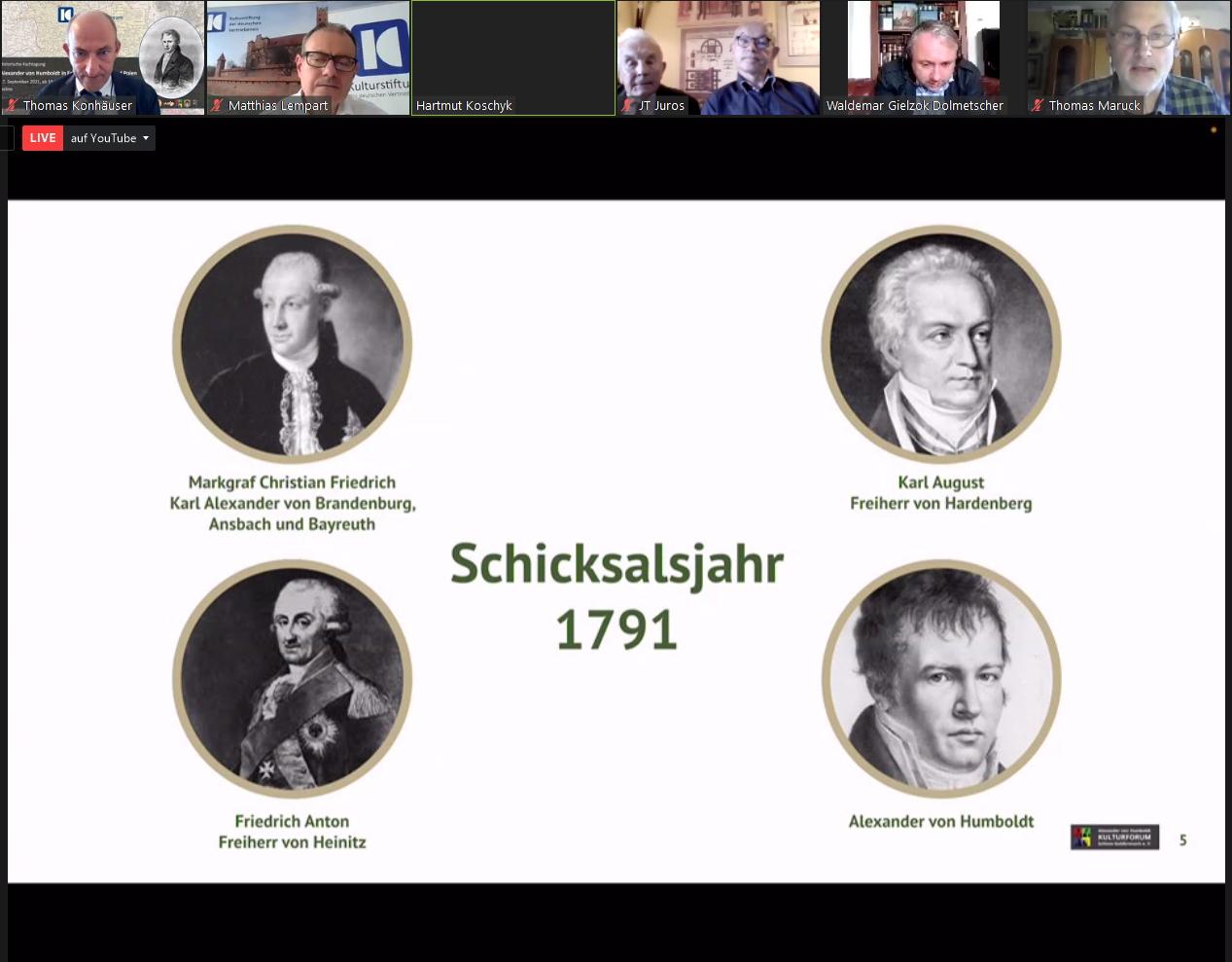 """Screenshot: Grafik zum """"Schicksalsjahr 1791"""""""