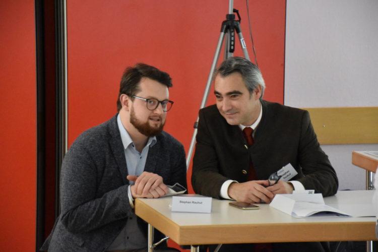 Foto: Dietmar Schulmeister und Stephan Rauhut im Gespräch