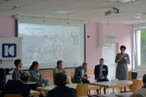 Foto: Podiumsdiskussion zur grenzüberschreitenden Zusammenarbeit
