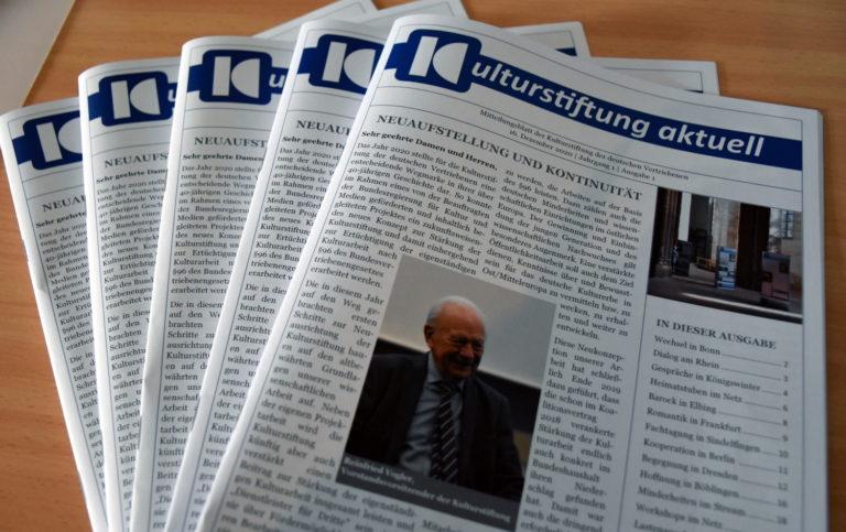 """Neues Mitteilungsblatt """"Kulturstiftung aktuell"""" feiert erste Ausgabe"""