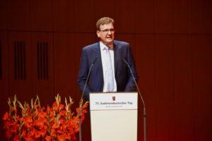 Foto: Steffen Hörtler am Rednerpult