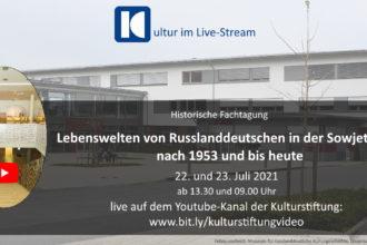 """Collage zur Online-Fachtagung """"Lebenswelten von Russlanddeutschen in der Sowjetunion nach 1953 und bis heute"""""""