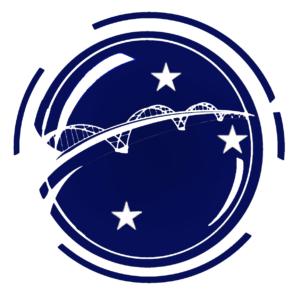 """Logo des Video-Wettbewerbs """"""""Junge Spätaussiedler/innen und junge Angehörige der Landsmannschaften als Brückenbauer in Deutschland und Europa"""""""""""