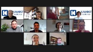 Netzwerkmitglieder und Zuschauer bei der Regio Hub-Premiere auf Zoom