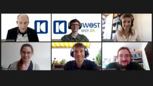 Screenshot: Juwost-Mitglieder bei der Spot On-Premiere