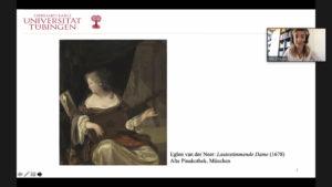 Screenshot: Dr. Astrid Dröse stellte unter anderem Unterschiede bei der musikalischen Darbietung barocker Lieder vor