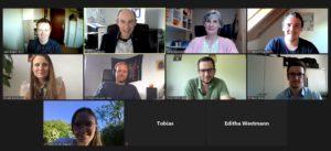 Screenshot von der Online-Veranstaltung: Jugendorganisationen der Landsmannschaften im Dialog mit der Landesbeauftragten Editha Westmann MdL