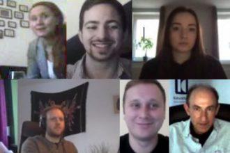 """Teilnehmer des März-Treffens des Jungen Netzwerks """"Zukunft"""""""